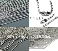 FREE SHIPPING HOT Stainless Steel Ball Chain Necklace Suit For Pendant Necklace Fashion Jewelry