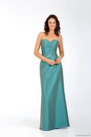 Wedding dresses, wedding reception party bridesmaid dresses Satin bead custom size Satin