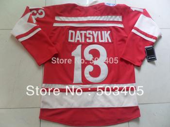 Detroit  Red Wings #13 DATSYUK  2014 winter classic red hockey Jerseys