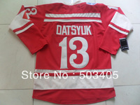 Detroit  Red Wings #13 DATSYUK  2014 winter classic red hockey Jerseys, mix order