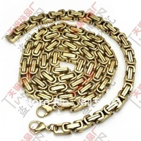 FREE SHIPPING New Arrival Golden Men's Necklace Charming Stainless Steel Fashion Jewelry Set Wholesale