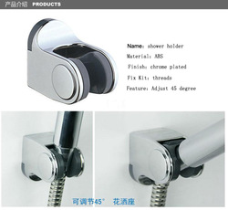 Chrome Plated ABS Hand Shower Holder wall mounted shower bracket Free Shipping(China (Mainland))