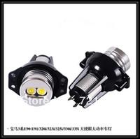 FOR BMW E90 E90 E91 325i 330i 335i 3-Series Sedan White LED Angel Eyes Bulbs Marker Very Bright