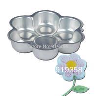 2013 Free Shipping Flower Shaped Cake Pan Cake Tin Cake Decoration Tool Metal Cake Mould Baking Pan