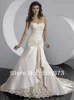 Free shipping best selling 100% Guarantee 2012 Lace Wedding Dresses any size/color