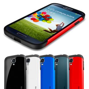 Hot! 50Pcs/lot Newest SGP SPIGEN SGP Slim Armor Color case for Samsung Galaxy S4 I9500+Original Box Free Shipping Wholesales