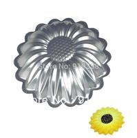 2013 Free Shipping Sunflower Shaped Cake Pan aluminum alloy cake moulds cake decorating tools