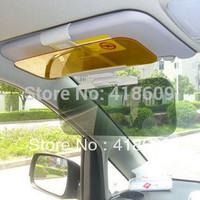 Day Night Snow anti-dazzling glare proof sun visor shade shield sun glass 2 in1 free shipping wholesale