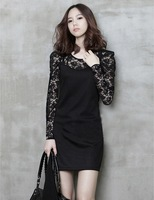 Free shipping 2013 spring summer autumn women lace dresses skirt casual O-Neck Mini skirt bottom dress party skirt