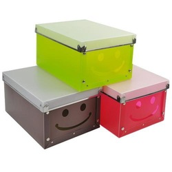 Smiley multifunctional metal eco-friendly pp storage box finishing box single storage organizer(China (Mainland))