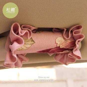 Romantic roof armrest set cloth laciness gloves series auto upholstery decoration set supplies