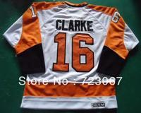 Free shipping ice hockey #16 CLARKE 16   white CCM throwback Jersey jerseys hot sale gift  feiren