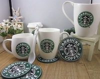 Non-slip Starbucks coffee cup coasters silicone insulation pad  cup pad for table decoration mat