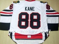 Free shipping ice hockey #88 PATRICK KANE 88 premier white color road third style cheap Jersey jerseys hot sale heiying