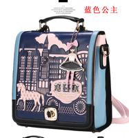 Free shipping 2013 princess hippomobile bag korean portable double-shoulder cross-body lock female bags