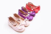 Limited edition m female child genuine leather multicolour leather single shoes children shoes princess shoes three-color