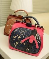 Free shipping Unique 2013 paper-cut vintage doctor bag women's handbag summer small bag messenger bag