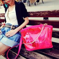 free shipping.  2013 in summer candy color jelly bag shoulder bag messenger bag handbag women's m06-096