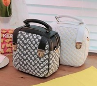 New,  2012 autumn lace crotch portable backpack double zipper bag preppy style  free shipping