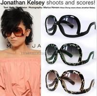 Sun glasses ultralarge women's anti-uv sunglasses large sunglasses glasses 17