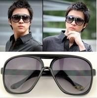 Hot-selling double anti-uv sun glasses oversized sunglasses large sunglasses male women's 25