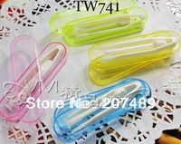 Soft contact lens lenses Holding plastic Tweezer holder 7cm case Tweezers stick whcn+