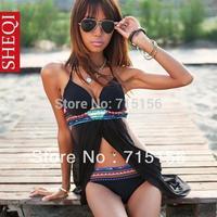 Free shipping! 2013 New sexy striped blue Swimwear women with yellow lace maillot de bain Beachwear swimsuit one piece hot sale