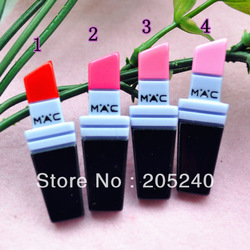Free shipping! very hot and kawaii resin MAC makeup set cabochons for DIY phone decoration 20pcs mixed(China (Mainland))