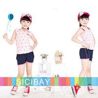 Free Shipping  Kids Shorts Girls Shorts Summer Solid Fresh Fashion Kids Shorts,4pcs/lot K0458