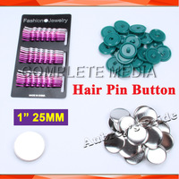 "1"" 25mm 100 Sets Hair Pin Button Supply Materials for NEW Professional Badge Button Maker"