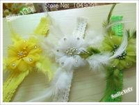 16pcs 8 Color Baby Headwear Girl's Hair Accessoires (Magnolia flower + Elastic Lace Hairband)