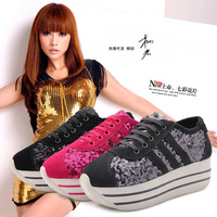 Hot-sellinglacing paillette spring and autumn single  sport shoes low-top casual female shoes