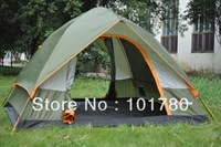 Umbrella fully-automatic tent double layer tent two-door outdoor camping tent 3-4  person casual tent