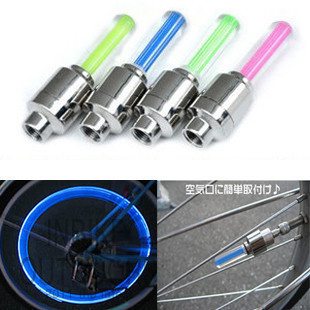 Neon stick wind fire wheels bicycle shaped lamp wheel lights light valve mountain bike colorful rear light