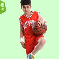 Big children's clothing child summer boys set child sportswear twinset sleeveless vest shorts basketball clothes summer thin