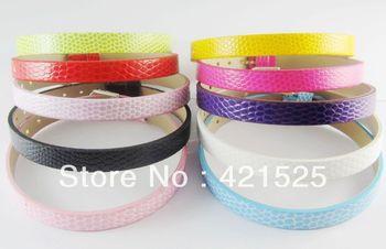 50PCS 8MM   DIY PU leather Wristband Bracelet DIY Accessories C003 Fit 8mm slide charms /slide letters