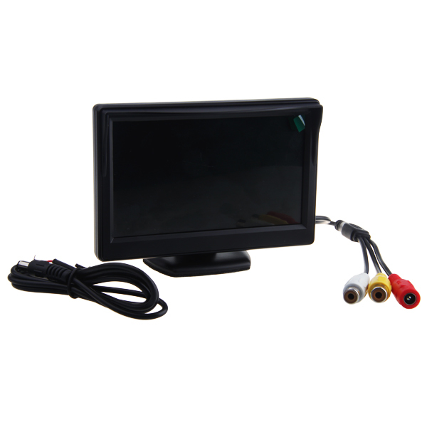 "5"" TFT LCD Sunshade Stand Security Car Rear View Monitor Color Screen Reverse Backup Camera W/2 Video Inputs (NTSC/PAL 12V DC)(China (Mainland))"