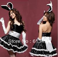 Babydoll Sexy Lingerie strip dress+g string set Sleepwear,Underwear ,Uniform ,Kimono Costume-black 8051-1pcs