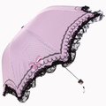 Free shipping The lace lace umbrella folding vinyl super UV Arch rain or shine umbrella(China (Mainland))