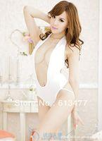 Babydoll Sexy Lingerie strip dress+g string set Sleepwear,Underwear ,Uniform ,Kimono Costume-white 1124-1pcs