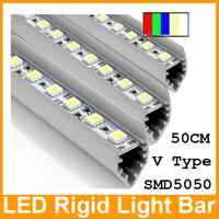 Best Price!!! 4pcs LED ceiling light bar cabinet strip light 50cm 36LEDs IP20 12V SMD 5050  rigid bar light