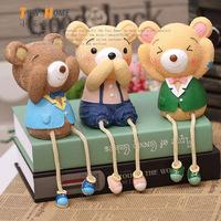 2014 Real Special Offer Luminous Mini Envelope Three-folding Type Bear Resin Doll Desk Cute Piggy Bank Piece Set Home Decoration