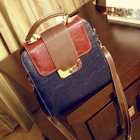 Fashion color block vintage bag 2013 small bags one shoulder cross-body women's handbag+free shipping