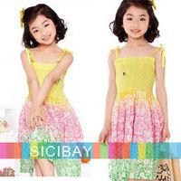 Kids Summer Dress Bohemian Style Dresses Cotton Dress Summer Little Girl Beach Sundress,5pcs/lot,Free Shipping K0472