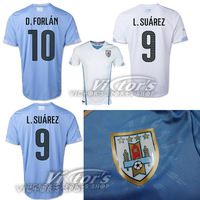 Top thailand quality  uruguay 13-14 Home Jersey soccer shirt free shipping can custom S,M,L,XL