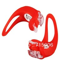 2PCS Red Silicone Bike Bicycle Cycle Cycling Rear LED Flash Light free shipping