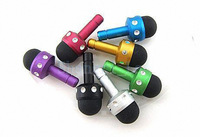 2 in 1 capacitive stylus 3.5mm dust plug for iphone 5 Galaxy I9500 colorful wholesale DHL free shipping