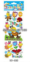 puffy sticker DIY Kids Wall Stickers Toy / Children Cartoon Puffy Decoration Sticker freeshipping