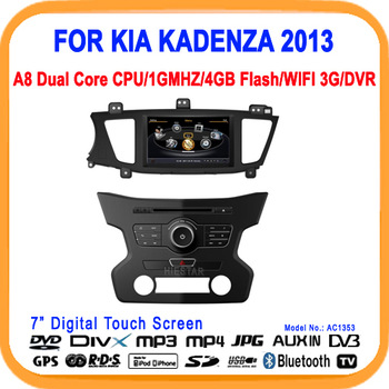 New!!Car Radio with GPS For KIA KADENZA 2013 Car Radio A8 Chipset Dual Chipset 3G modem/wifi/DVR Option(AC1353)