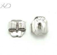 XD P022 925 sterling silver ear nuts earrings back stopper butterfly earplug for diy jewelry 4mm 10pcs/lot